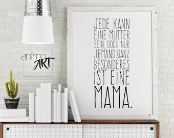 Mother's Day mural for Mama, Muttertagsgeschenk, gift for mama, Deco make yourself, print template, mother, grandma, last minute gift