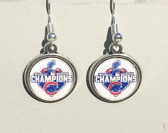 Chicago Cubs Championship Logo Earrings, 14 &18mm, 1 inch sizes