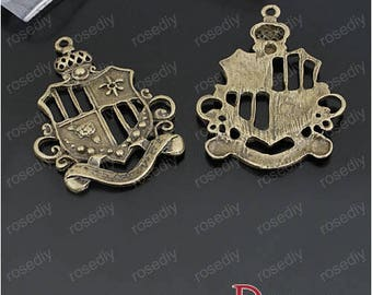 10 charms in bronze 44 * 32MM badge D22902