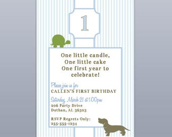 Snips, Snails and Puppy Dog Tails Invitation