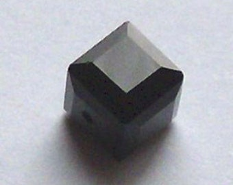 Swarovski Crystal Beads CUBE 5601 Swarovski elements beads JET black -  Available in 4mm, 6mm and 8mm