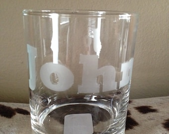 Glass Etched Whiskey Glasses