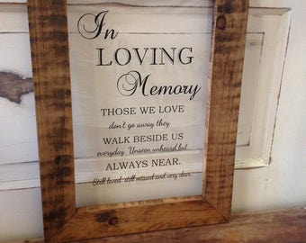 In loving memory sign