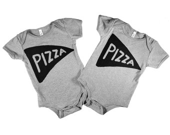 Funny Twins Onesies, Pizza Baby, Twins Baby Outfit, Mother Gift, Baby Shower Gift, Twins Onesie, Set, Unisex Twins Onesie, Twins, cute twins