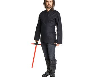 Sith Lord Kylo Ren Costume Tunic Shirt Adult  Men's Black