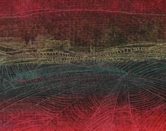 """original oil pastel drawing 6""""x4"""""""