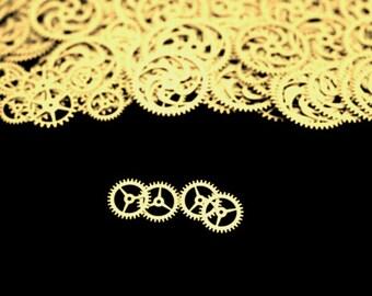 BrassSteampunk Gears, Steampunk Accessories, Steampunk Craft Jewelry Supply -4qty - 3/4 Inch (19.05mm) Gears. Designer Special