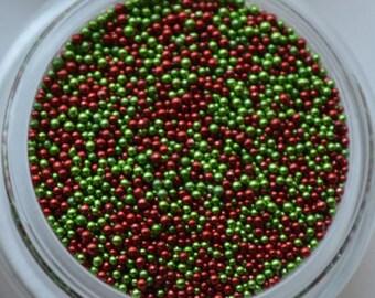 Christmas Micro Beads. 5 grams