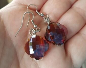 Caramel Glass Earrings