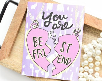 Galentines Day, Best Friend Card, Card for Best Friend, Funny Bestie Card, BFF greeting card, Besties, Card for BFF, Besties Card