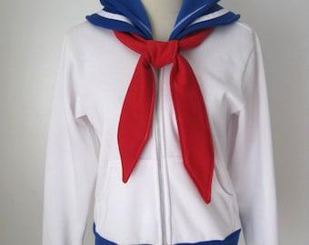 Sailor Moon Seifuku Uniform Suit Usagi Tsukino Outfit Cosplay Costume Hoodie Jacket