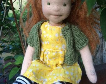 Lisa Handmade Textile soft Doll