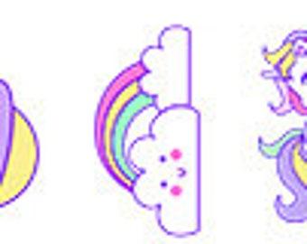Set of 55 stickers Unicorn