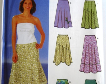 Easy Sew Misses Skirts 6 Styles Two Lengths with Trim Variations Sizes 16 18 20 22 24 Simplicity Pattern 5503 UNCUT