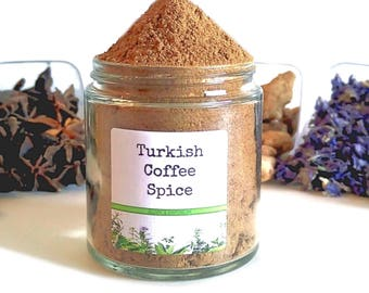 Turkish Coffee/Coffee Spice/Spice Rack/Seasoning Blends/Food Gift/Coffee Gift/Gifts For Foodies/Foodie Gift/Seasonings Gifts/Chef Gift
