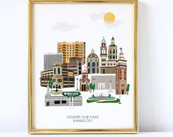 Kansas City Plaza Art Print - Country Club Plaza Art