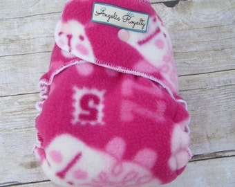 Counting Sheep -  Extended Wear Hybrid Fitted Cloth Diaper with Hidden Bamboo Fleece