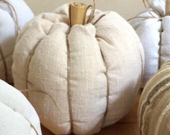 Stuffed dumpling squash and fall pumpkin decor