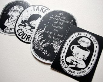 All 4 vinyl stickers
