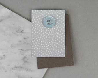 No.1 Dad Badge Card