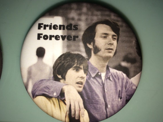 BUTTON - Davy's Angels Micheal Nesmith Friends Forever Button