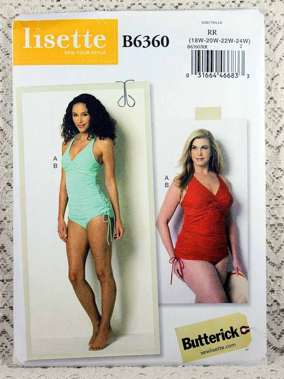 Butterick 6360 Misses\' Swimsuit Sewing Pattern One Piece
