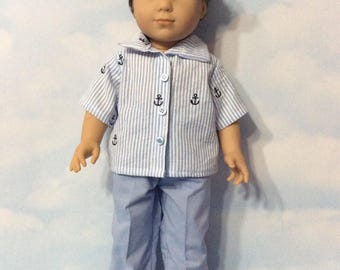 """Nautical outfit or 18"""" Logan doll"""