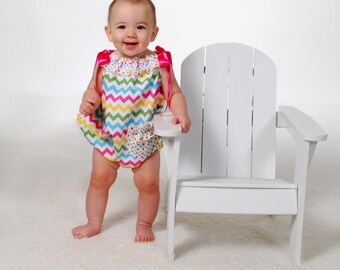 Summer Sunsuit - SEW PRECIOUS Pillowcase Bubble Romper Pattern - Size 6m-24m baby  PDF Sewing Pattern  by FootLooseFancyFree on Etsy