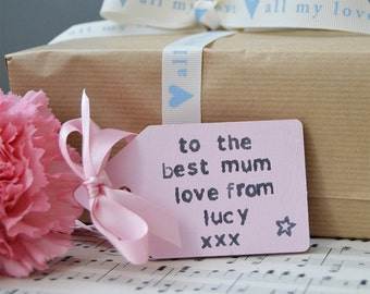 Personalised Wooden Gift Tag - Wedding Gift Tag - Christmas Gift - Birthday Present - New Baby Present - Craft Room Storage