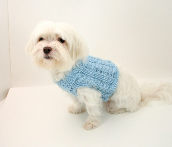 Easy Patterns For Knitting Dog Sweaters Sizes Small Medium To Fit
