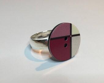 Magenta Tile Ring