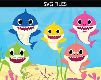 Baby shark etsy baby shark svg mommy shark svg daddy shark svg grandma shark svg grandma shark svg vector stopboris Images