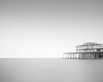 Brighton Beach print, fine art photo print, beach photo print