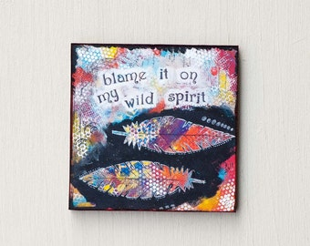 Refrigerator Magnets - Wild Free Spirit - Inspirational Magnets - Art Magnets - Cute Magnet - Fridge Magnet - Stocking Stuffer for Women