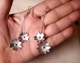 Earrings, flowers  * 813