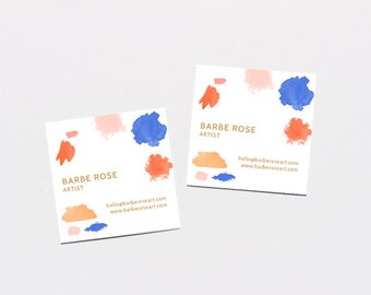 Barbe Rose Artist Business Cards / DIY Business Cards / Printable Business Cards / Instant Download / Word, Photoshop + Illustrator Files