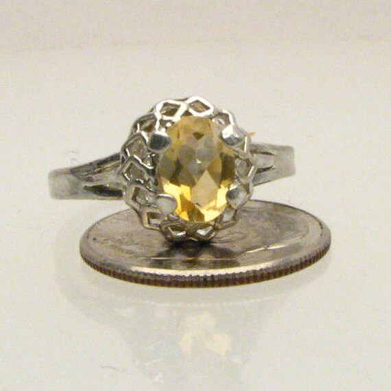 Handmade Sterling Silver Citrine Ring