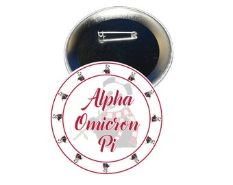 Alpha Omicron Pi Button - Sorority