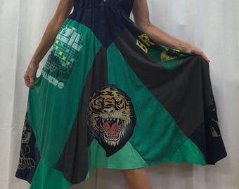 Brazil Dress Brasil Dress Brazil Tee Shirt Dress Rio De Janeiro Dress Rio Olympics Size XS to Bust 36 inches