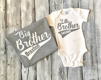 Big brother little brother shirts, Matching brother shirts, big brother, little brother, coming home outfit, sibling shirts, big bro lil bro