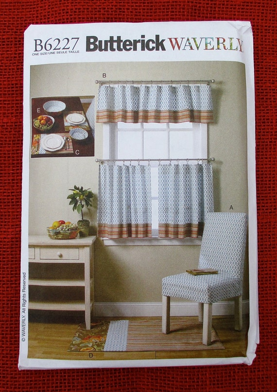 Butterick Waverly Sewing Pattern B6227, Chair Slipcover, Curtains ...