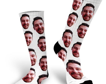 Custom Face Photo Socks Picture on a Sock - Personalized Sock Funny Gift