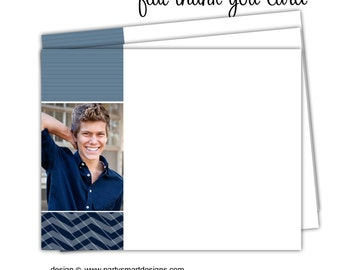 10 - Graduation Thank You Note Cards/Flat Thank You Cards/Folded Thank You Cards