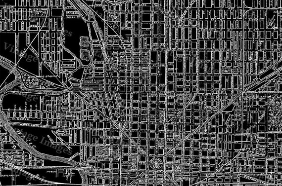 Giant Black & White 1899 Vintage Historic Indianapolis Indiana Bicycle and Driving Map Restoration Hardware Blueprint Style wall Map DECOR
