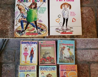 Beverly Cleary and Forever amber brown lot