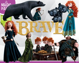 Brave Clipart - Digital 300 DPI PNG Images, Photos, Scrapbook, Digital, Cliparts - Instant Download