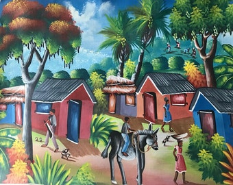"Original Oil on Canvas - ""Bourik Woulib"""