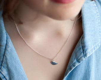 Necklace with sterling silver - silver Sparrow necklace bird