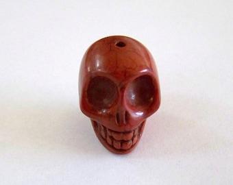 Skull Large Chocolate Brown Stone Bead