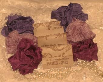 Scrunched Seam Binding ribbon, Crinkled Seam Binding Packaged Vintage Violette ECS